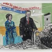 Raymond Pettibon, No Title (When the going…), 2007. Schreibstift, Tusche und gouache auf Papier, 52.7 x 62.2 cm. Courtesy David Zwirner, New York. © Raymond Pettibon