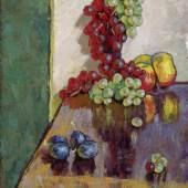 """Georg Pevetz, """"Stillleben mit Früchten"""", um 1922, Öl auf Leinwand, 69,2 x 49,6 cm, Neue Galerie Graz, Foto: Universalmuseum Joanneum/N. Lackner"""
