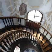 Rissbildungen im Treppenturm. Foto: SPSG / Elvira Kühn