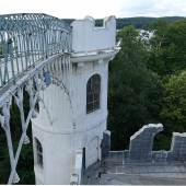 Brücke und Dach müssen ebenfalls instand gesetzt werden. Foto: SPSG / Elvira Kühn