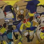Helmut Sturm, Infernalezza, 1962-63, Mischtechnik auf Leinwand, CAMeC | Centro Arte Moderna e Contemporanea La Spezia, Cozzani collection