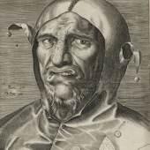 Philips Galle (1537-1612): Kopf eines Narren, um 1560, Kupferstich-Kabinett, Staatliche Kunstsammlungen Dresden