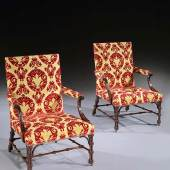 A Set of Four George III Mahogany Library Armchairs  English, circa 1760   Ronald Phillips Ltd
