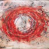 Prelog Drago Julius O-Meditation Acryl auf Leinwand signiert und datiert 2013, verso bezeichnet 50 x 65 cm
