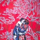 Lovers Öl auf Leinwand signiert, verso bezeichnet und datiert 2010 WVZ-Nr. 20-10/29 68 x 53,5 cm