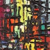 Paris Öl auf Leinwand signiert, 1959 50 x 31 cm