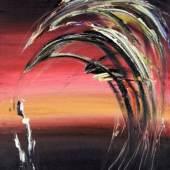 Twilight I. Öl auf Leinwand signiert, 1964 92 x 65 cm