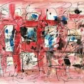 Hans Staudacher Bilder einer Ausstellung Mischtechnik auf Papier signiert, 1996 43,5 x 59,8 cm