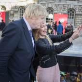 Mayor of London Boris Johnson officially opening the fair