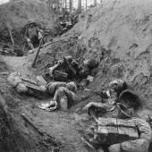 In der feindlichen Stellung am  Piave-Damm, Italien Foto: k. u. k. Kriegspressequartier 18.6.1918