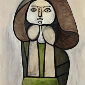 Pablo Picasso Femme à la robe verte (Femme Fleur), 1946 oil on panel 101 by 81.5 cm.