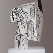 Pablo Picasso, Sylvette, 1954 beidseitige Ölmalerei auf ausgeschnittenem Metallblech, 69,9 x 47 x 1 cm © Succession Picasso / 2013 ProLitteris, Zürich