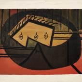Pablo Picasso Tête (Nature morte à la guitare), 1927-28 oil on canvas 60 by 73 cm.