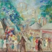 Robert Libeski  Wurstelprater, 1933  Öl/Leinwand 62 x 76 cm  signiert Libeski , datiert 33 Preis: € 12.000,-