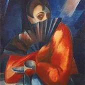 Hans Spiegel  In der Sektbar, um 1923  Öl/Leinwand 75 x 64 cm  monogrammiert H. S. Preis: € 36.000,-