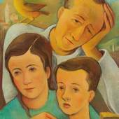 Carry Hauser  Heimkehr, 1947  Öl/Platte, 60 x 49,2 cm  monogrammiert CH, datiert 47 abgebildet in Carry Hauser 2018, S. 92, Nr. 270