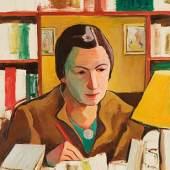 Carry Hauser  Trude, 1952  Öl/Platte, 59,8 x 48,8 cm  monogrammiert CH, datiert 52 verso bezeichnet Trude 1952 letztes Bildnis  abgebildet in Carry Hauser 2018, S. 95, Nr. 275