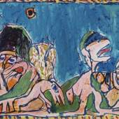 Pierre Alechinsky: Le chemin creux, 1978, Peter und Gudrun Selinka-Stiftung, Foto: Thomas Weiss, © VG Bild-Kunst, Bonn 2018