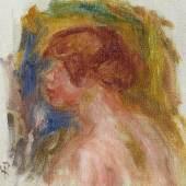 Pierre-Auguste Renoir (1841 – 1919) Büste einer jungen Frau   Ölstudie   Öl auf Leinwand   15 x 16 cm Ergebnis: 38.700 Euro