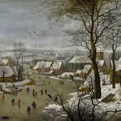 Pieter Brueghel the Younger, Winter Landscape with a Bird Trap_£1.5 – 2 million