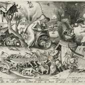 """Pieter van der Heyden (1530–1572) nach Pieter Bruegel d. Ä. (1525–1569): Ira – Der Zorn, aus der Serie """"Die sieben Todsünden"""", 1558, Kupferstich-Kabinett, Staatliche Kunstsammlungen Dresden"""