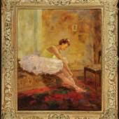 """Pippel, Otto, 1878 Lodz - 1960 München Öl/Lwd, 60 x 50 cm, """" In der Garderobe """", Mindestpreis:2.800 EUR"""