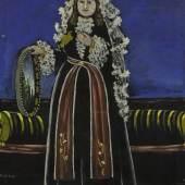Pirosmani, Georgian Woman Wearing a Lechaki_£500,000 - 700,000, sold for $2.8 million (£2.2 million).