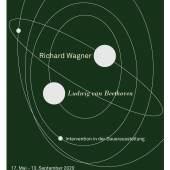 """Plakat zur Intervention """"Richard Wagner und Ludwig van Beethoven"""", 17. Mai bis 13. September 2020 © Nationalarchiv der Richard-Wagner-Stiftung, Bayreuth"""