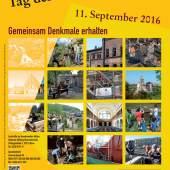 Plakat, Tag des offenen Denkmals am 11. September 2016