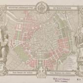 """""""Allerhöchster geneh migter Plan der Stadt erweiterung"""" 1859"""