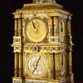 Messing, feuervergoldet, versilbert, Eisen Höhe: 118 cm Breite: 62,5 cm, Quelle: Skd