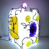 Karsten Neumann, v.l.n.r PLZ 90461, PLZ 91054, PLZ 90762, 2021, alle: Kunststoffmüll, LED, 30 x 22 x 18 cm, © Karsten Neumann