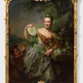 """Matthieu, Georg David """"Porträt der Anna Regina von Olthoff"""" Öl auf Leinwand. 152 x 115 cm. Ergebnis: € 22.500"""