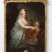 """Matthieu, Georg David """"Porträt der Magdalene Charlotte von Olthoff"""" Öl auf Leinwand. 152 x 115 cm. Ergebnis: € 22.500"""