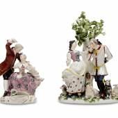 Porzellanfiguren aus der Burg Kriebstein bzw. Lehndorff