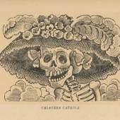 Bildlegende: José Guadalupe Posada Calavera Catrina, 1913 Zinkätzung, Blatt: 34,5 x 23 cm Kunsthaus Zürich