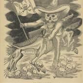 Unbekannter Künstler Calavera Zapatista, um 1911 Zinkätzung, Blatt: 34,5 x 23 cm Kunsthaus Zürich