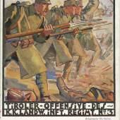 Postkarte des k.k. Schützenregiments Nr. 3  für den Witwen und Waisenfond des Regiments, 1917, GrazMuseum