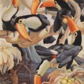 Norbertine Bresslern-Roth, Tukanjäger, 1943, Öl auf Jute; 90 × 70 cm Meistbot: € 70.000 / Kaufpreis: € 88.200