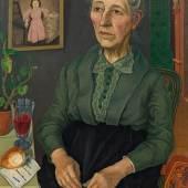 Rudolf Wacker (1893 – 1939) Bildnis meiner Mutter (in ihrem 72. Lebensjahr), 1926 Öl auf Leinwand; 77 x 58 cm Ergebnis: 365.400 Euro