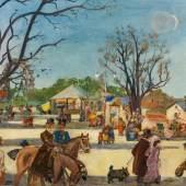 Oskar Laske (1874 – 1951) Wiener Prater mit Riesenrad um 1914, 1951 Öl auf Leinwand, 65 x 120 cm Schätzpreis: 60.000 – 90.000 €