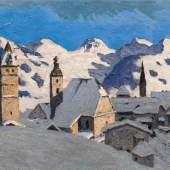 Alfons Walde* (1891 – 1958) Kitzbühel im Winter, 1930 Öl auf Karton; 43 x 58 cm Schätzpreis: 180.000 – 360.000 €