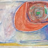 Friedensreich Hundertwasser (1928 – 2000) Sonnentropfen, 1955-56 Aquarell auf Packpapier, Zinkweiß und Fischleim Schätzpreis: 130.000 – 200.000 €
