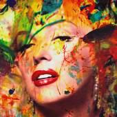 Gill James Francis, Marilyn with Pearl Earring Reflection, 2008, Acrylic o. Canvas, 85 x 115 cm, Premium Modern Art, Heilbronn- DE