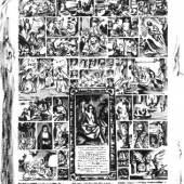 Gezeichnet von Bea Davies nach: Anton Joseph von Prenner / Frans van Stampart, Bilderwand der Wiener Galerie, 1735, Radierung, 45,5 x 34,5 cm, Herzog Anton Ulrich-Museum Braunschweig.