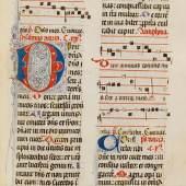 A164 / 159 PSALTERIUM, Spanien, spätes 14. Jh. Lateinische Handschrift auf Pergament.  CHF 25 000 / 35 000