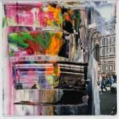 Gerhard Richter Firenze (2. Jan. 2000), 2000 Öl auf Fotografie 12 x 12 cm Sprengel Museum Hannover, Dauerleihgabe aus Privatbesitz © Gerhard Richter 2013 Foto: Aline Gwose / Michael Herling, Sprengel Museum Hannover