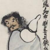 Lb.-Nr. 351 175 Qi Baishi (1864-1957) Der Unsterbliche Li Tieguai mit Kürbisflasche Tusche und Farben auf Papier, 133 x 33 cm Schätzpreis: € 80.000 – 100.000,-