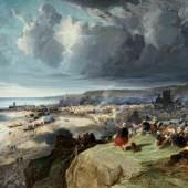 Jules Achille Noël Vue panoramique de la ville de Dieppe  1867 | Öl auf Leinwand | 74 x 110cm  Ergebnis: 115.200 Euro