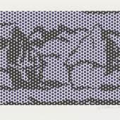 Roy Lichtenstein (1923–1997) Haystack # 3 (aus der Serie Haystacks #1–#7), 1969 Lithographie und Siebdruck, 52,5 x 78,1 cm Hamburger Kunsthalle, Kupferstich- kabinett / bpk © Estate of Roy Lichtenstein / VG Bild-Kunst, Bonn 2021 Foto: Christoph Irrgang